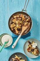 Shiitake-Schmarren mit Couscous