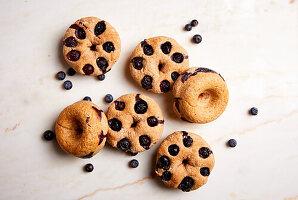 Heidelbeer-Bagels (zuckerfrei)