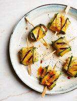 Gegrillte Zucchini-Feta-Päckchen (zuckerfrei)