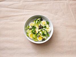 Eier-Carpaccio mit Avocado