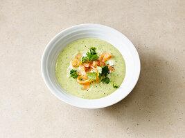 Petersilien-Kartoffel-Suppe mit Lachs