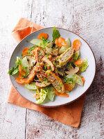 Maultaschen-Salat mit Senfdressing