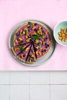 Vegane Heidelbeer-Tarte mit Crunch