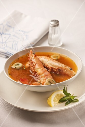 Shrimps-Suppe