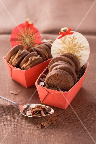 Chocolate and coffee biscuits