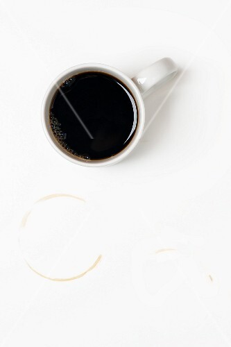 A cup of coffee and cup ring