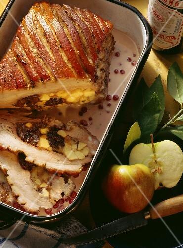 Danish Roast Pork with Prunes