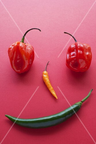 A face made of chilli peppers