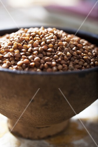 Buckwheat in a dish