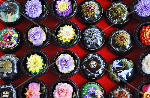 Carved soap flowers (Thailand)