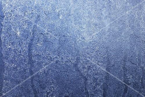 An icy window pane (macro zoom)