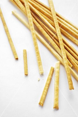 Many Thin Bread Sticks