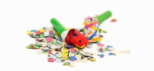 Party blowers and confetti