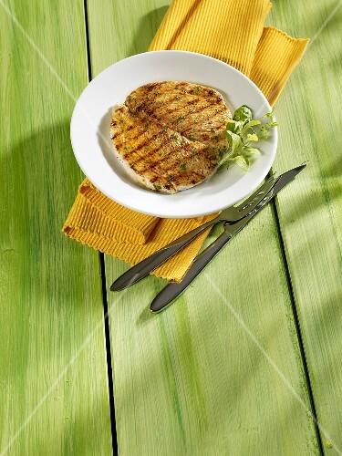 Grilled turkey escalope