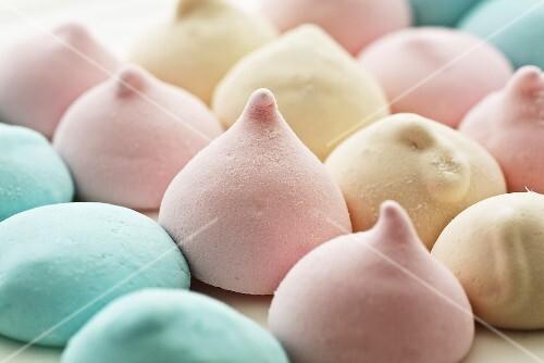 Pastel-coloured marshmallows