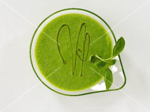 A basil shake, seen from above