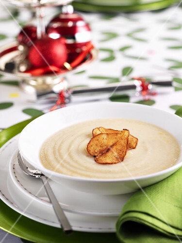 Cream of cauliflower soup at Christmas