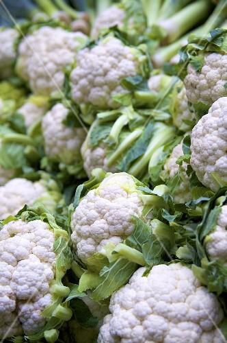 Cauliflower at the market