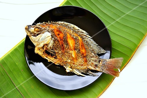 Fried tilapia (Thailand)