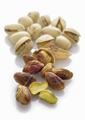 Pistachios, with and without shells