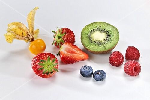 Physalis, kiwis and berries