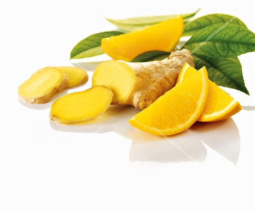 Ginger and slices of orange