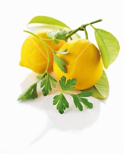 Lemons and parsley