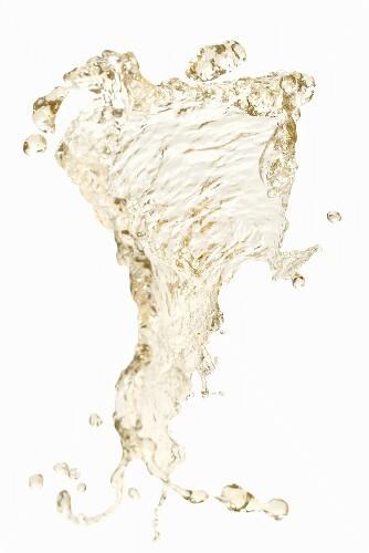 A splash of white wine