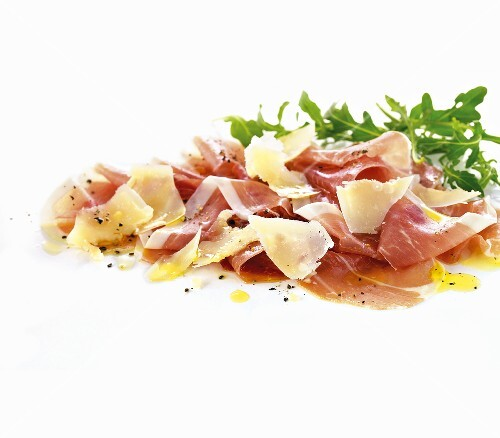 Prosciutto with Parmesan and rocket