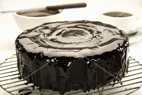 Iced chocolate cake
