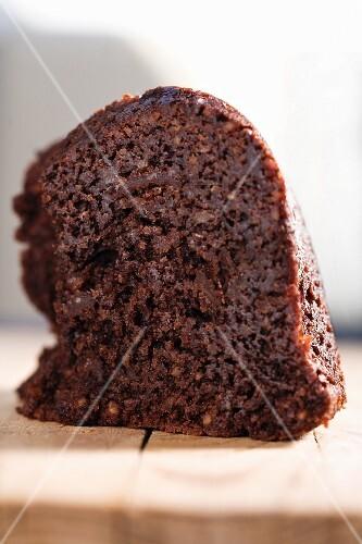 A chocolate walnut cake