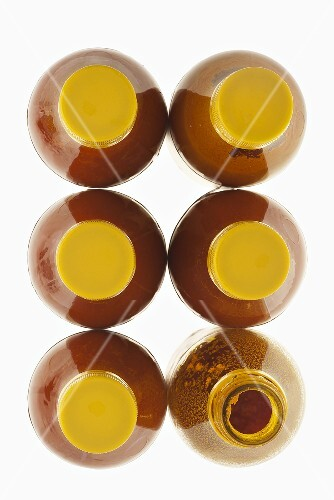 Six bottles of Dendé (red palm oil, Brazil)