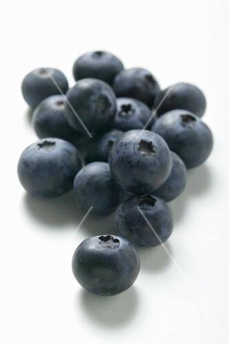 Several blueberries