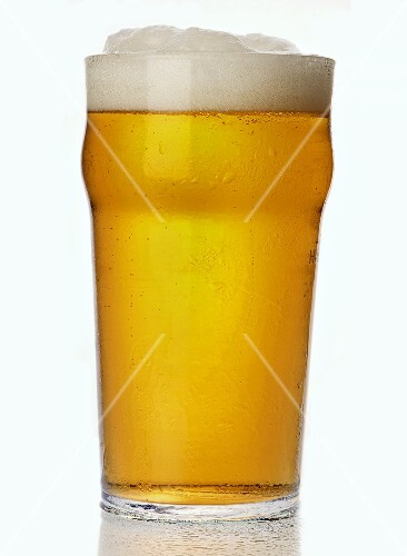 A glass of lager, England