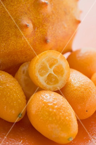 Kiwano und Kumquats