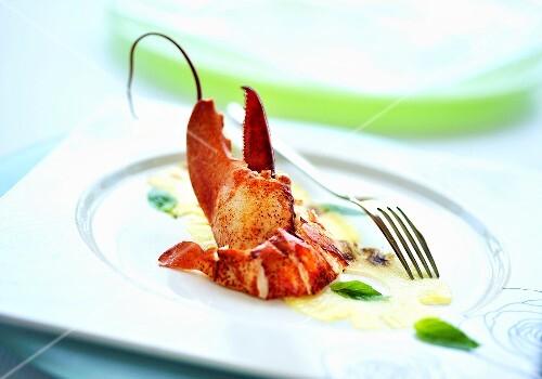 Lobster on pineapple carpaccio
