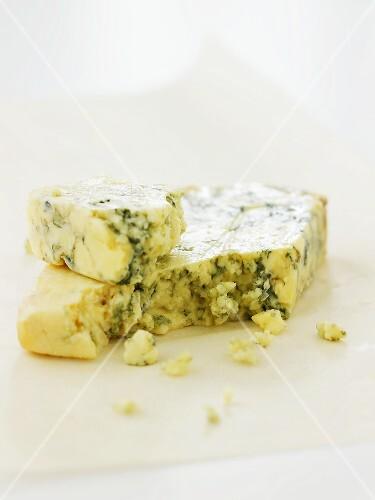 Stilton cheese on paper