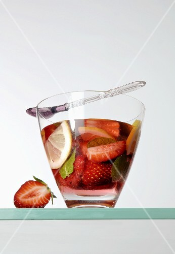 Strawberry punch in a glass