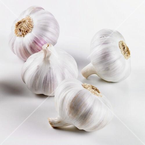 Four garlic bulbs