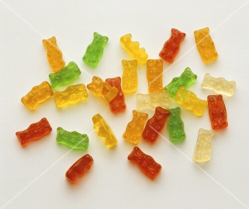 Coloured Gummi bears