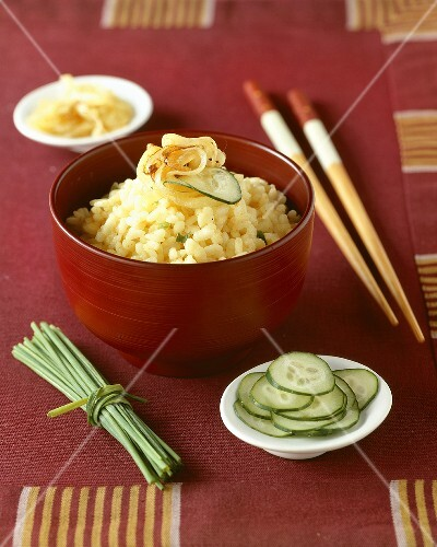 Savoury coconut rice (Indonesia)