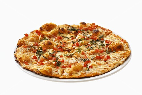 Pizza Margherita (Mozzarella and tomato pizza, Italy)