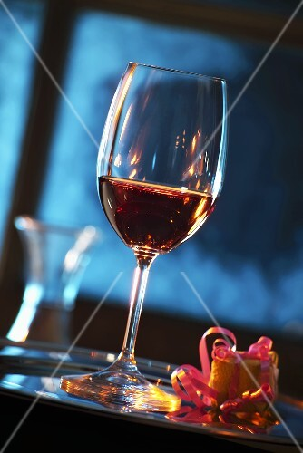 Dessert wine in glass
