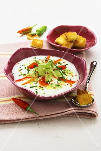 Zuppa fredda (Cold vegetable soup, Italy)