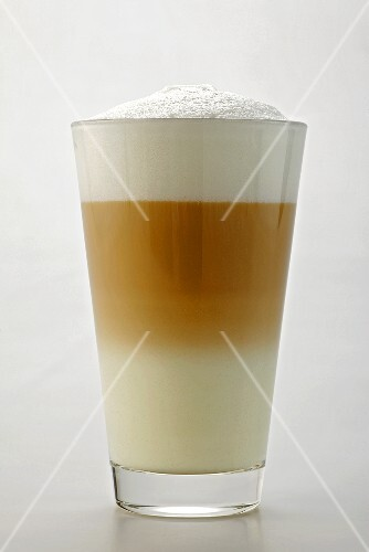 A glass of caffè latte