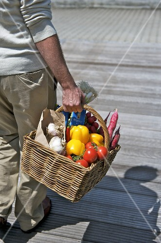 Man with shopping basket