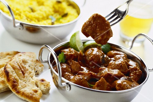 Beef vindaloo (meat dish from India, Reunion, Mauritius)