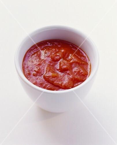 Small bowl of tomato sauce