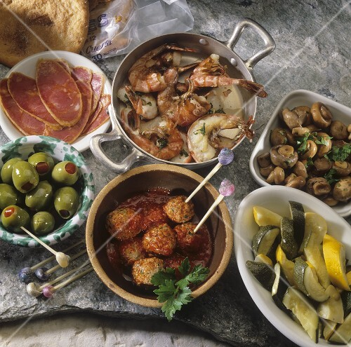 Assorted tapas (Spanish appetisers)