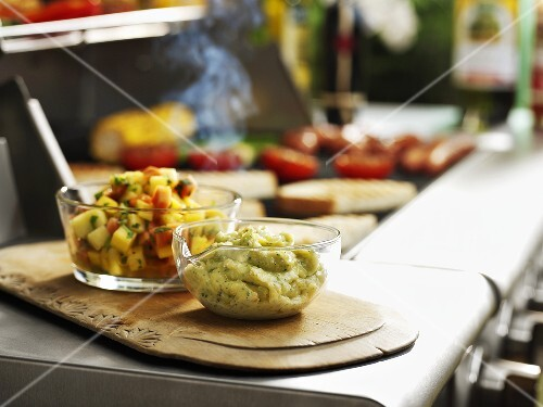 Green tomato chutney and salsa (for barbecue)
